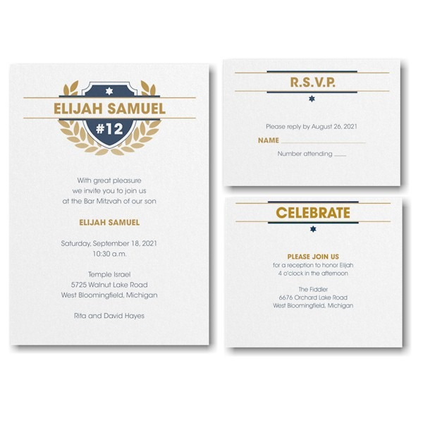 Celebration Crest Bar Mitzvah Invitation