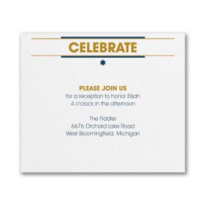 Celebration Crest Reception Card