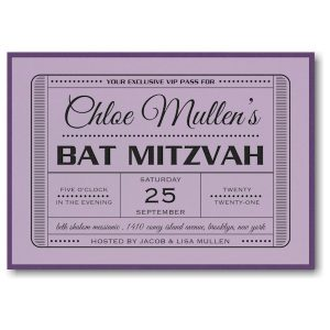 Exclusive VIP Pass Layered Bat Mitzvah Invitation Icon