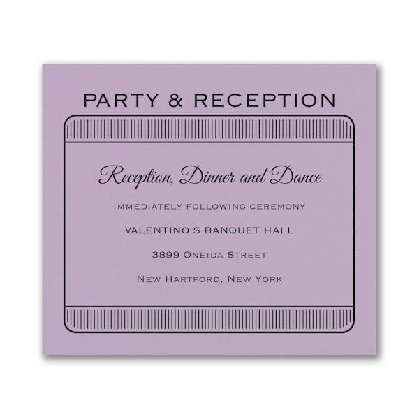 Exclusive VIP Pass Layered Bat Mitzvah Reception Card