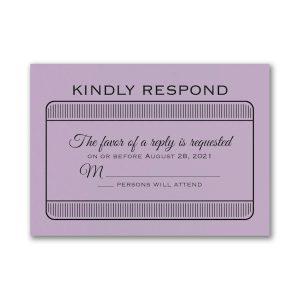 Exclusive VIP Pass Layered Bat Mitzvah Response Card