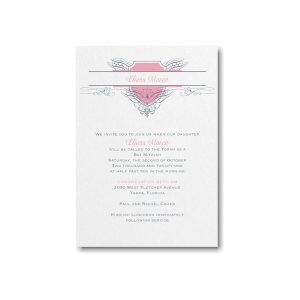 Fabulous Flourish Bat Mitzvah Invitation alt