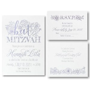 Floral Mitzvah Bat Mitzvah Invitation