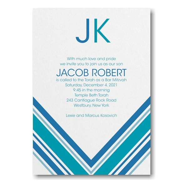 Regal Stripes Bar Mitzvah Invitation Icon