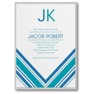 Regal Stripes Layered Bar Mitzvah Invitation Icon