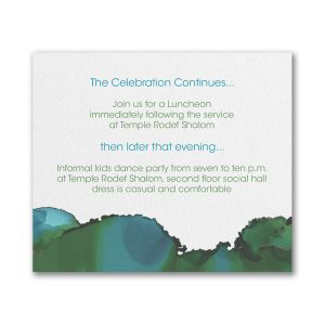 Be Bold Celestial Emerald Reception Card