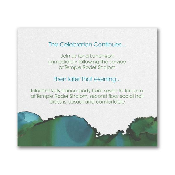 Be Bold Celestial Emerald Reception Card