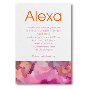 Be Bold Celestial Fuchsia Bat Mitzvah Invitation Icon