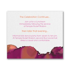 Be Bold Celestial in Fuchsia Reception Card
