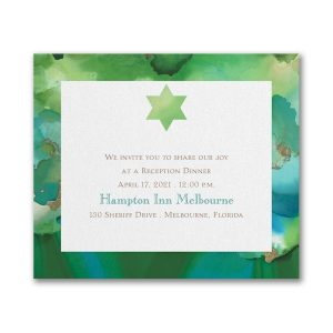 Be Bold Star of David Emerald Reception Card