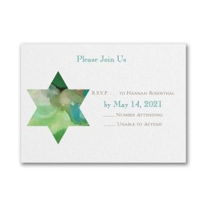 Be Bold Star of David Emerald Response Card