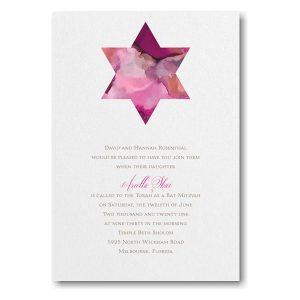 Be Bold Star of David Fuchsia Bat Mitzvah Invitation sample Icon