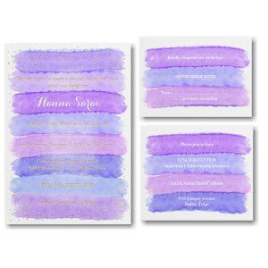 Bright Watercolor Hydrangea Bat Mitzvah Invitation