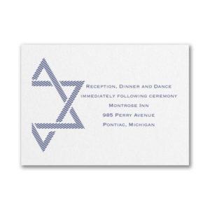 Decorative Mitzvah Reception Card