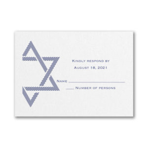Decorative Mitzvah Response Card