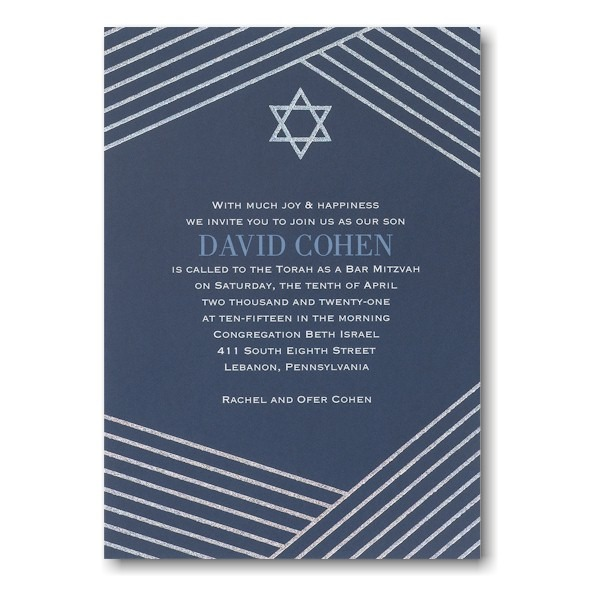 Modern Star Bar Mitzvah Invitation Icon