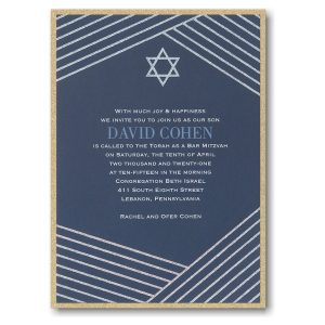 Modern Star Layered Bar Mitzvah Invitation Icon