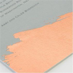 Painted Foil Layered Bar Mitzvah Invitation alt2