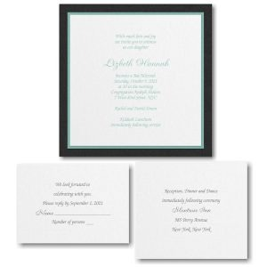 Sophisticated Layers Bat Mitzvah Invitation