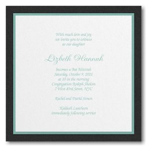 Sophisticated Layers Bat Mitzvah Invitation Icon