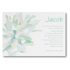 Watercolor Celebration Lagoon Bar Mitzvah Invitation Icon
