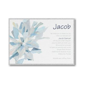 Watercolor Celebration Midnight Layered Bar Mitzvah Invitation alt
