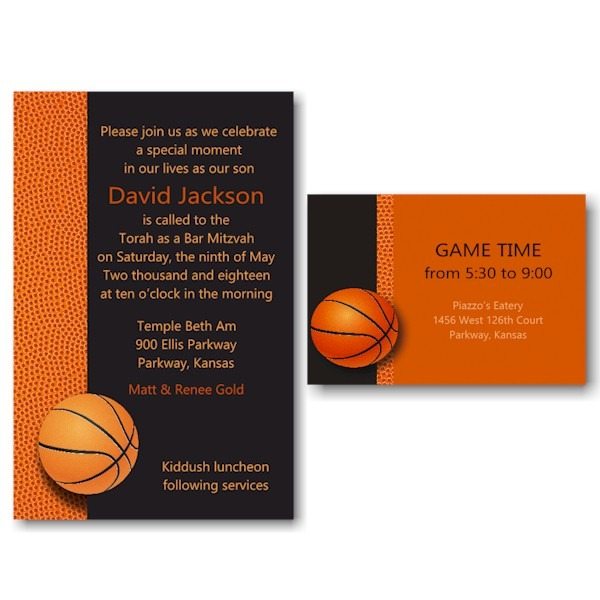 Basketball Bar Mitzvah Invitation