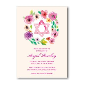 Bat Mitzvah Star Bat Mitzvah Invitation