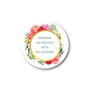 Elegant Floral Gold Return Address Label