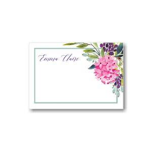 Floral Corner Frame Note Card