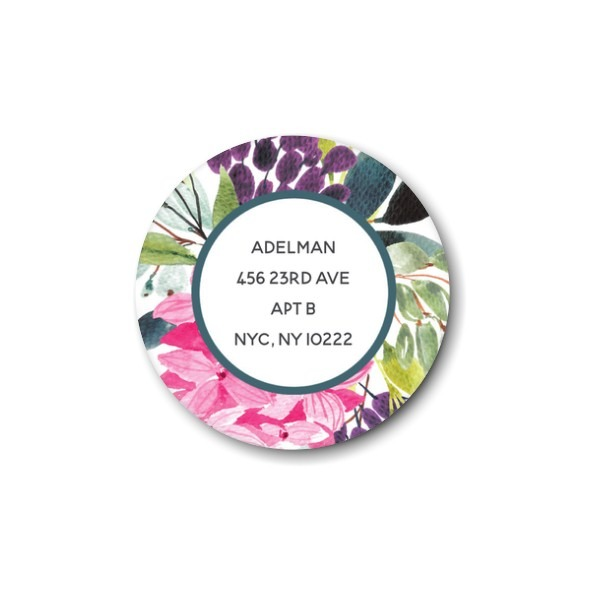Floral Corner Return Address Label