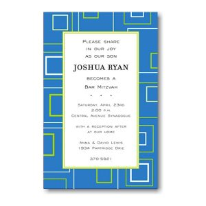 Geometric Simple Bar Mitzvah Invitation