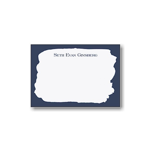 Navy Brush Note Card