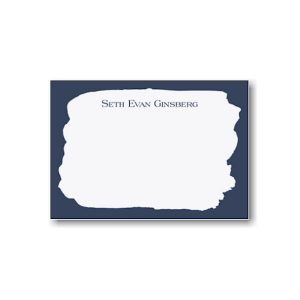 Navy Brush Note Card