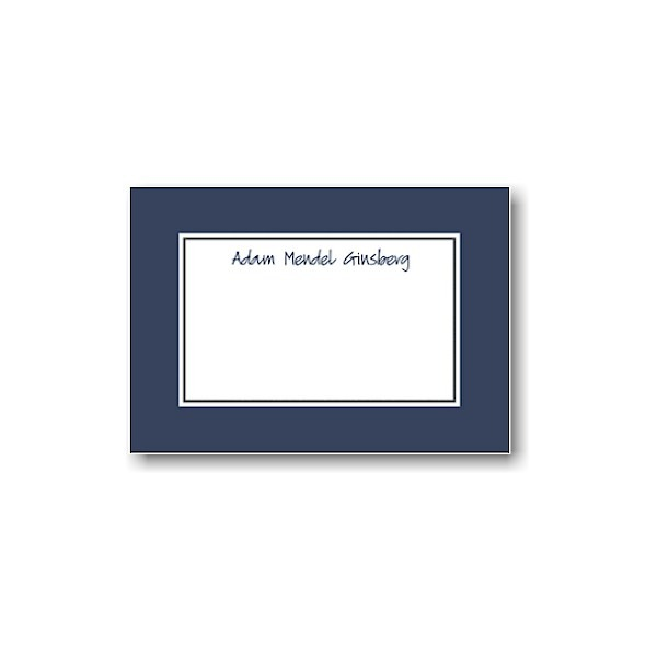 Navy Note Card