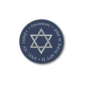 Star of David Return Address Label