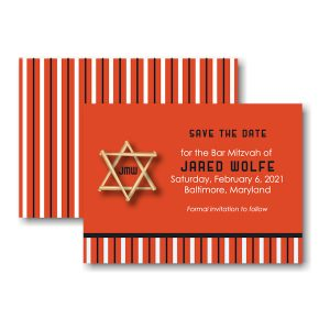 All Star BAL Save the Date Card Sample