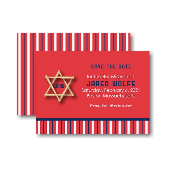 All Star BOS Baseball Save the Date Card