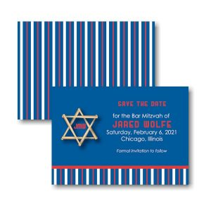 All Star Bar Save the Date Card