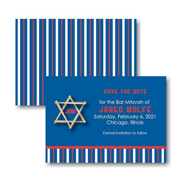 All Star Bar Save the Date Card