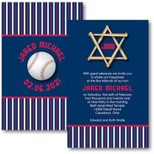 All Star CLE Bar Mitzvah Invitation