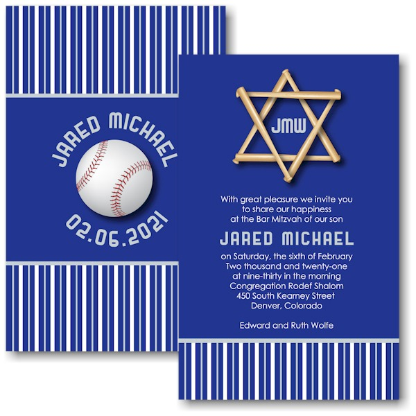All Star COL Baseball Bar Mitzvah Invitation Icon