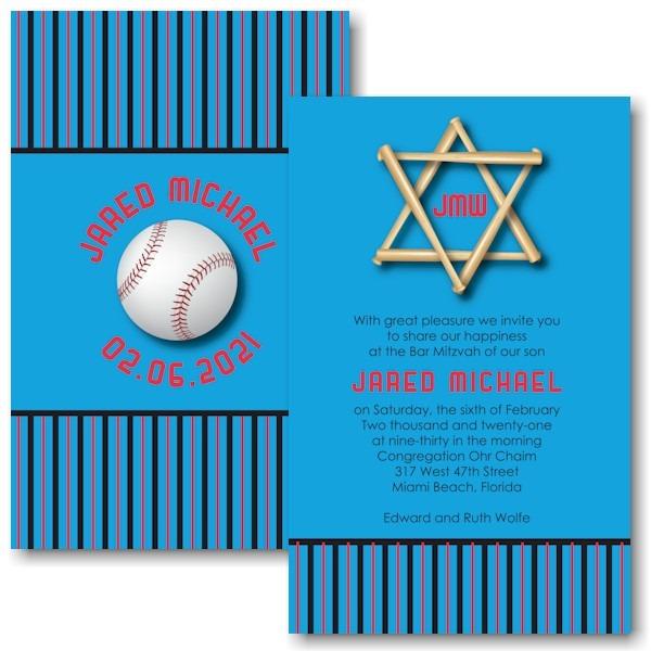 All Star FLA Bar Mitzvah Invitation Icon