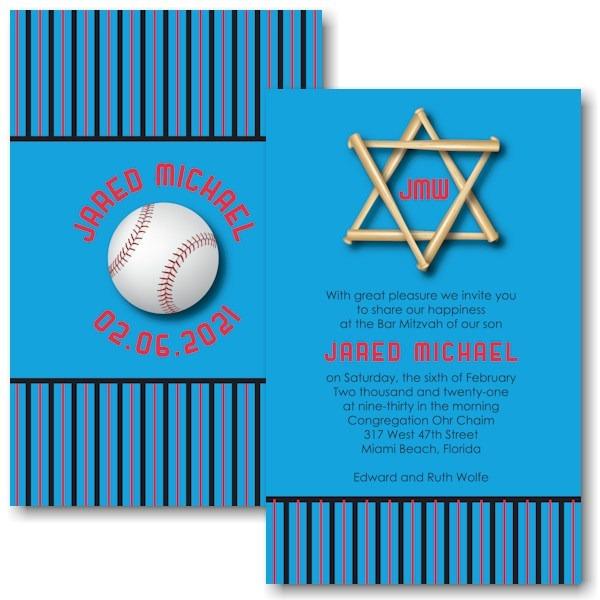 All Star FLA Bar Mitzvah Invitation