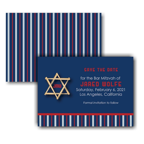 All Star LAA Save the Date Card Sample