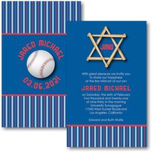 All Star LAD Baseball Bar Mitzvah Invitation