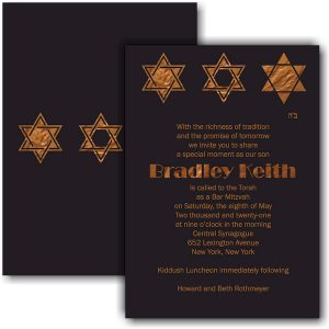 Bradley Keith Bar Mitzvah Invitation Sample