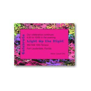 Caroline Rose Reception Card