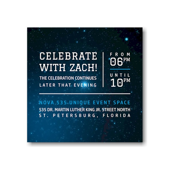 Galaxy Reception Card