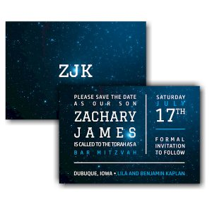 Galaxy Save the Date Card Sample
